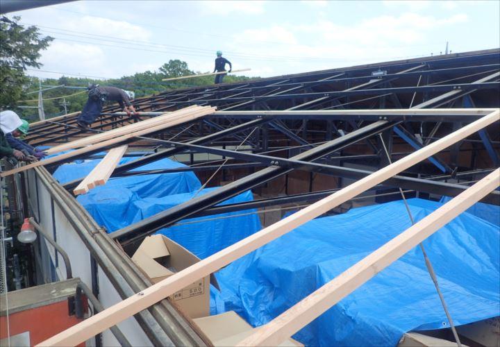 木更津市 屋根下地の造作