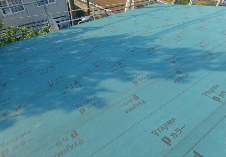 木更津市 防水紙張り完了