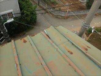 木更津市 屋根材の捲れ