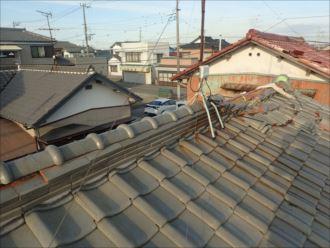 木更津市 棟瓦の崩れ