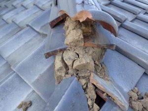 棟瓦の破損