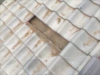 木更津市 破損瓦の取外し