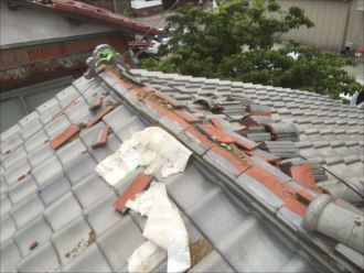 木更津市 棟瓦の解体