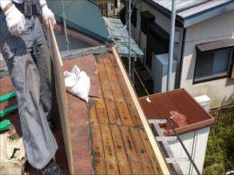 君津市 金属屋根材撤去完了
