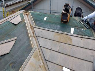 君津市 既存の金属屋根材撤去
