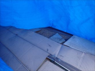 君津市 剥がれた屋根