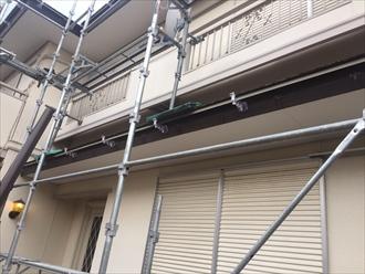 君津市 新規樋吊り金具の設置