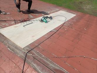 市原市 野地板張り完了