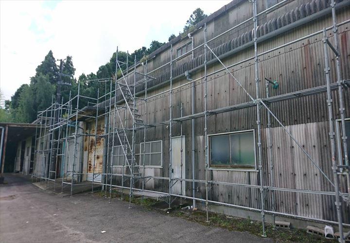 佐倉市 仮設足場の設置