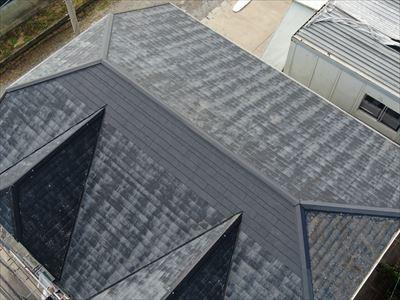 富津市岩瀬で東日本台風で被害を受けた屋根を、コロニアル葺き替え工事を行いました、施工後写真