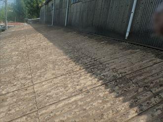 佐倉市 大波スレートの掃除完了