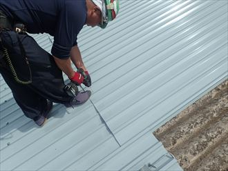 佐倉市 屋根材の固定
