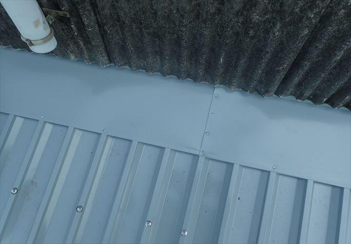 佐倉市 雨押え工事完了