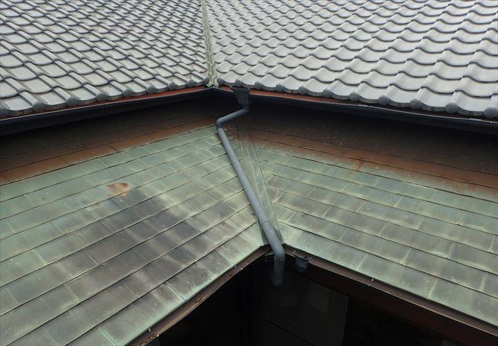 木更津市 銅板屋根の状況調査