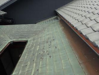 木更津市 銅板の屋根の腐食