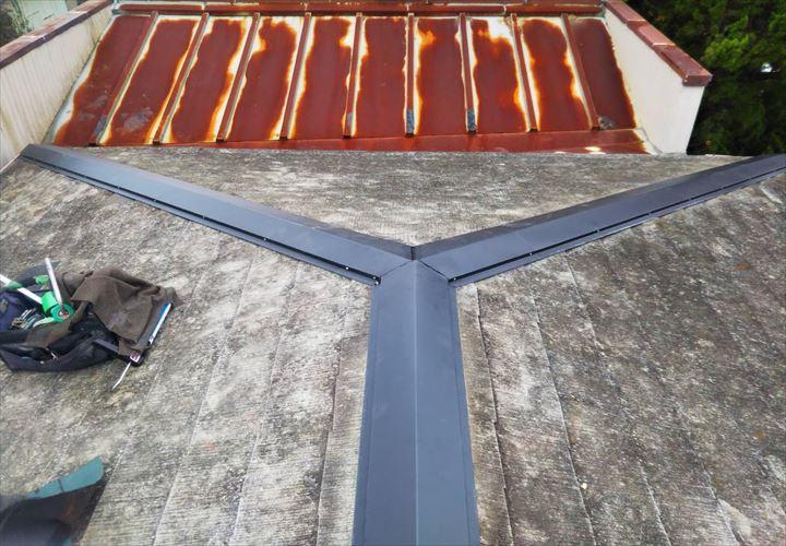 大網白里市 棟板金・屋根補修工事完了