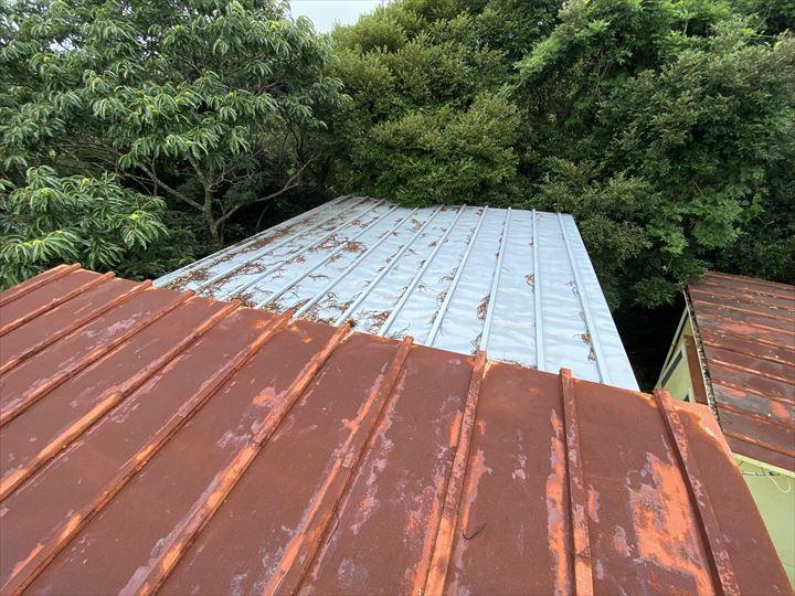 瓦棒屋根の劣化