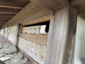 外壁の破損