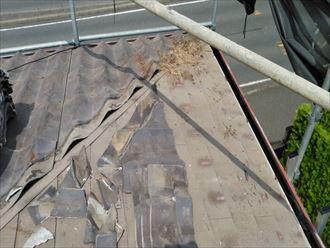 木更津市 既存屋根材の撤去