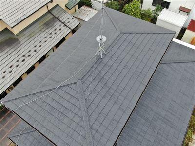 市原市光風台にて縁切り不足による雨漏りをスーパーガルテクトでの屋根カバー工法で解消、施工後写真
