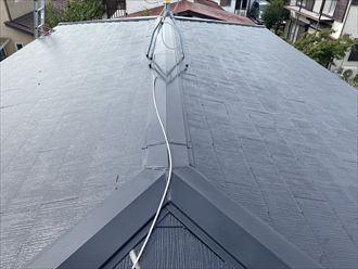 市原市光風台にて縁切り不足による雨漏りをスーパーガルテクトでの屋根カバー工法で解消、施工前写真