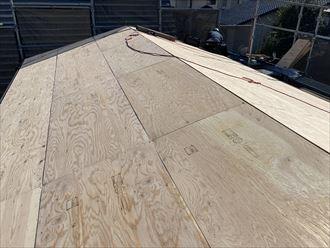 木更津市 2階の野地板張り完了