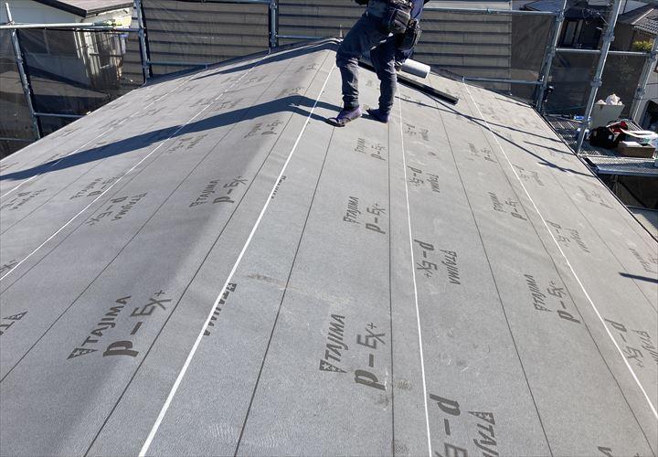 木更津市 新規防水紙の設置