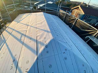 東金市 新規防水紙設置完了