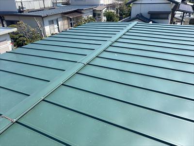 木更津市大久保で劣化した瓦棒屋根を、カバー工事で今後の雨漏り対策、施工後写真