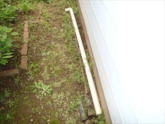 千葉市稲毛区 雨樋の落下