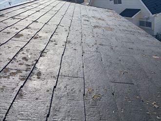 スレート屋根材の塗膜劣化