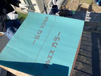 構造用合板と防水紙