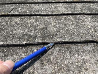 スレート屋根材の反り