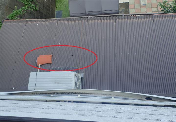 袖ケ浦市 瓦の落下による二次被害
