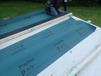旭市 防水紙の設置工程